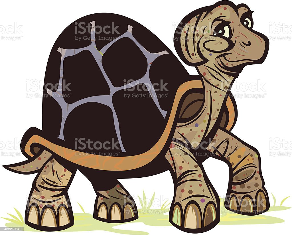 Turtle_Walk royalty-free stock vector art
