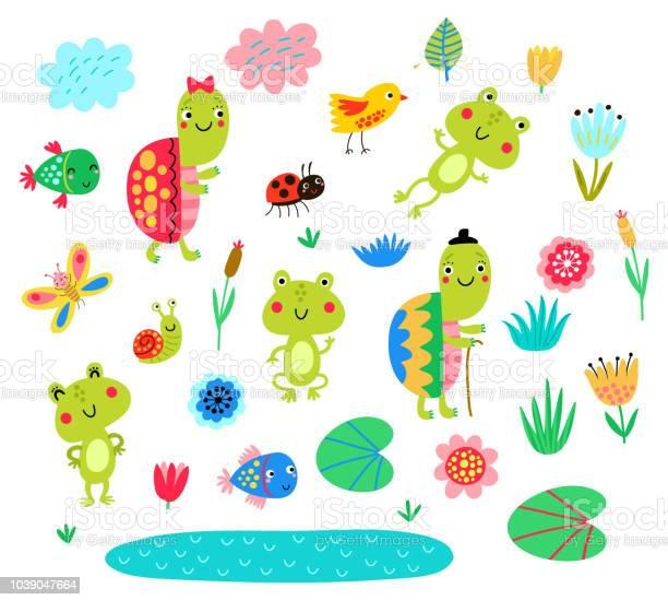 Turtles frogs fish set of vector characters vector id1039047664?b=1&k=6&m=1039047664&s=612x612&h=slhfmaaxsuckd9 8tl1uwuxwts0oi6n614gijokz ww=