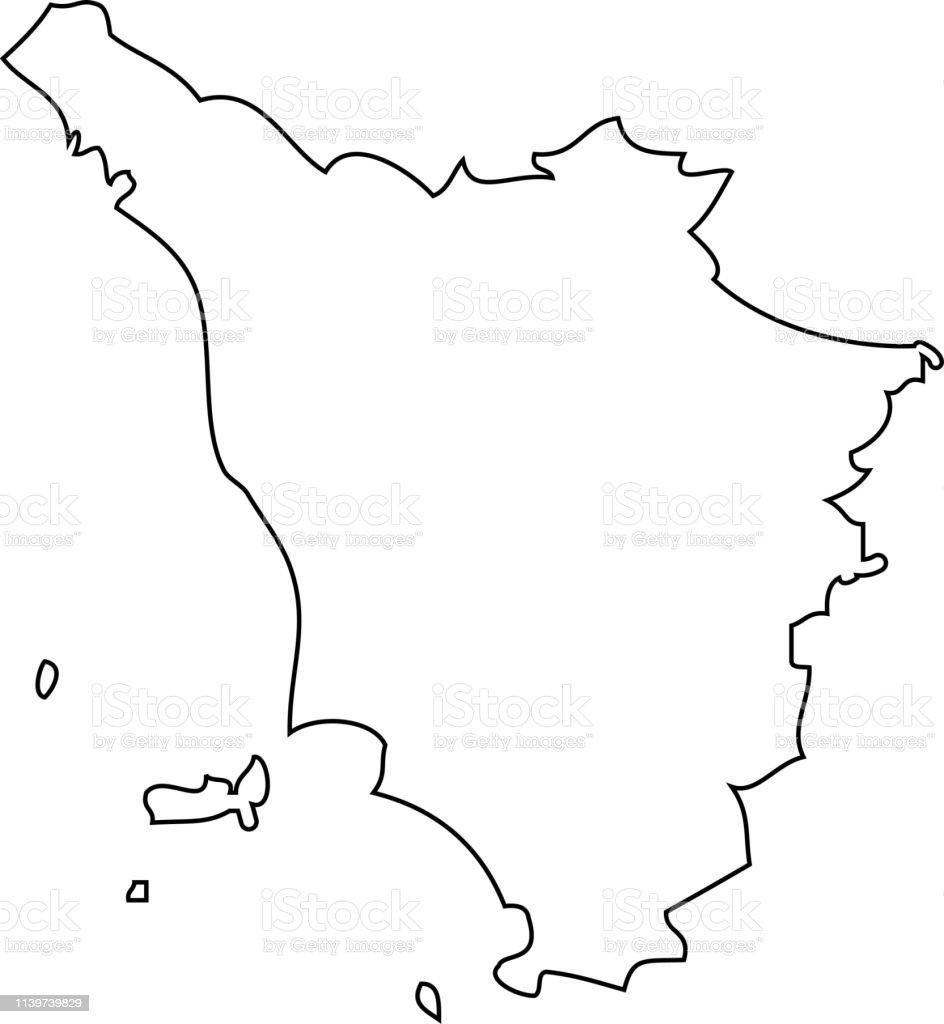 Tuscany Map Region Of Italy Stock Illustration - Download ...