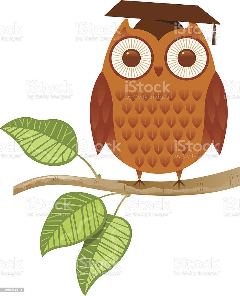 Tutor owl royalty-free stock vector art