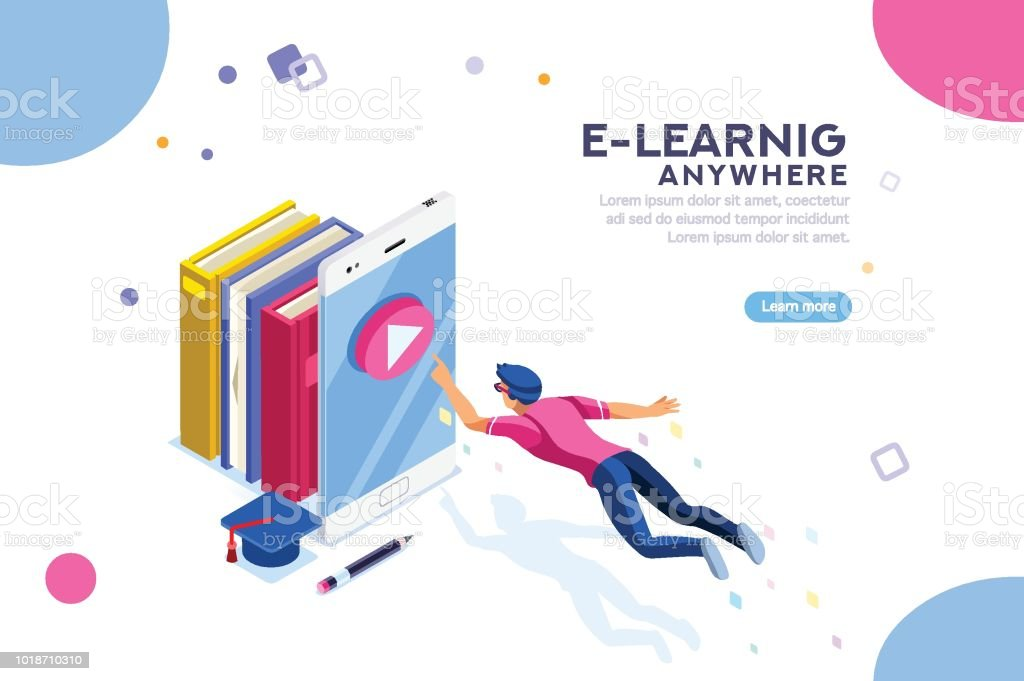 Tutorial Search Elearning Banner Stock Illustration - Download Image