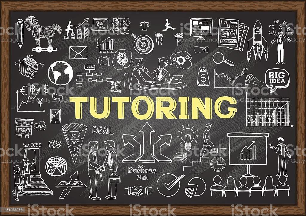 Tutoring vector art illustration