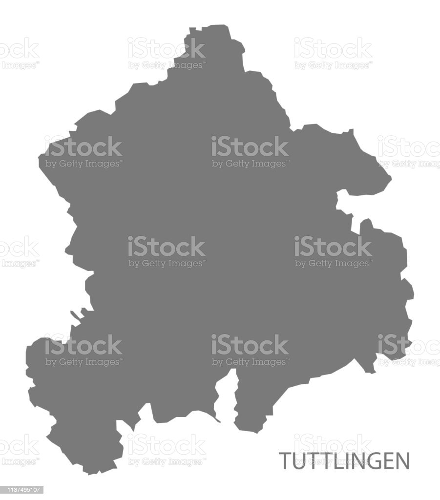 Tuttlingen County Map Of Baden Wuerttemberg Germany Stock