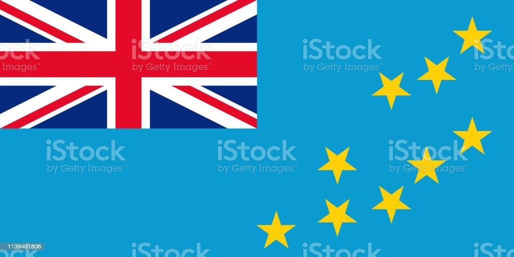 Bandeira de Tuvalu. Ilustração do vetor. Sinal oficial do estado nacional. - ilustração de arte em vetor