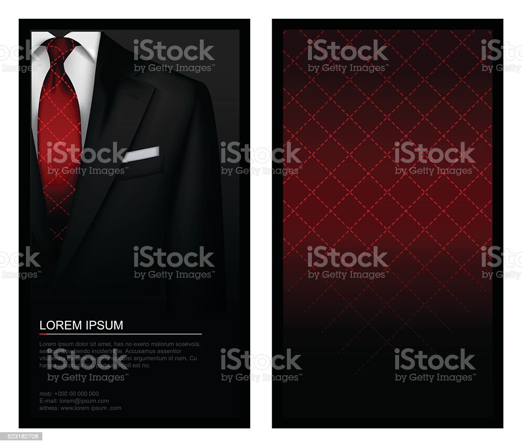 Tuxedo background with tie vector art illustration