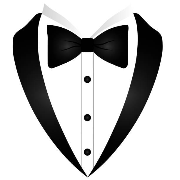 ilustrações de stock, clip art, desenhos animados e ícones de tuxedo man logo - smoking