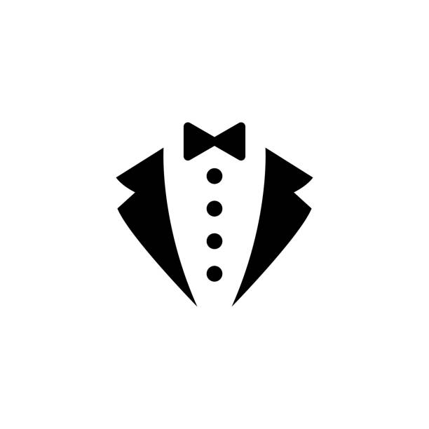 ilustrações de stock, clip art, desenhos animados e ícones de tuxedo suit icon - smoking