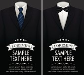 Tuxedo vector background with bow tie
