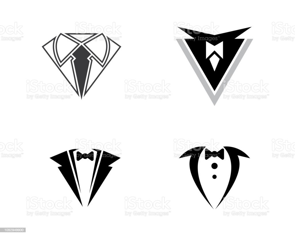 Tuxedo vector icon illustration design