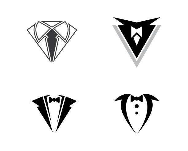 Tuxedo vector icon illustration design Tuxedo Logo template vector icon illustration design tuxedo stock illustrations