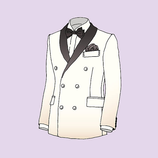 tuxedo - prom fashion stock illustrations, clip art, cartoons, & icons