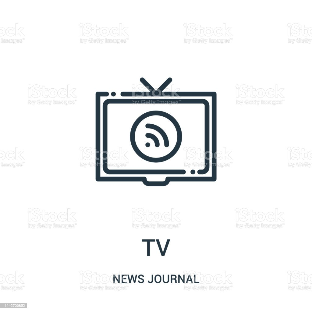 Tv Icon Vector From News Journal Collection Thin Line Tv
