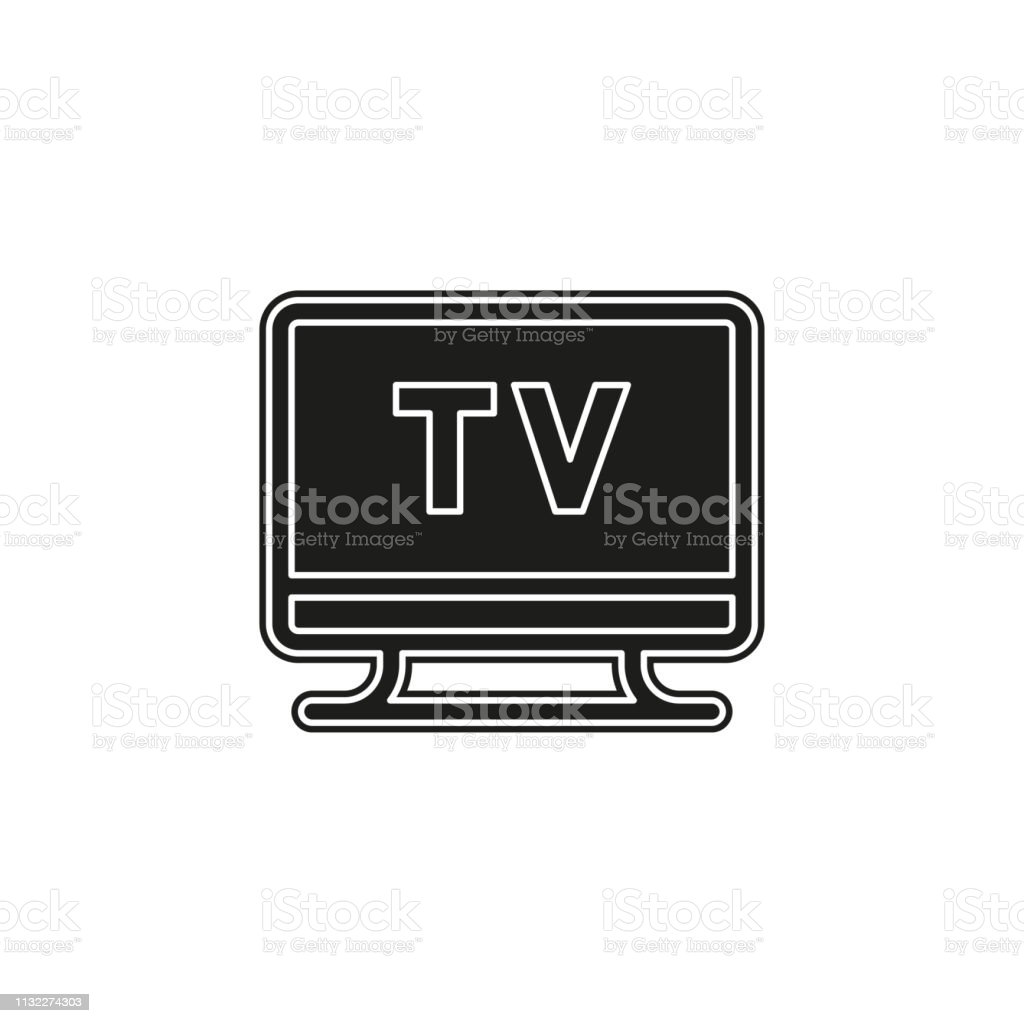 Tv Icon Vector Television Screen Illustration Video Show