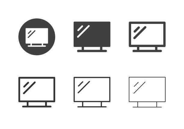 LED Tv Icons - Multi Series vector art illustration