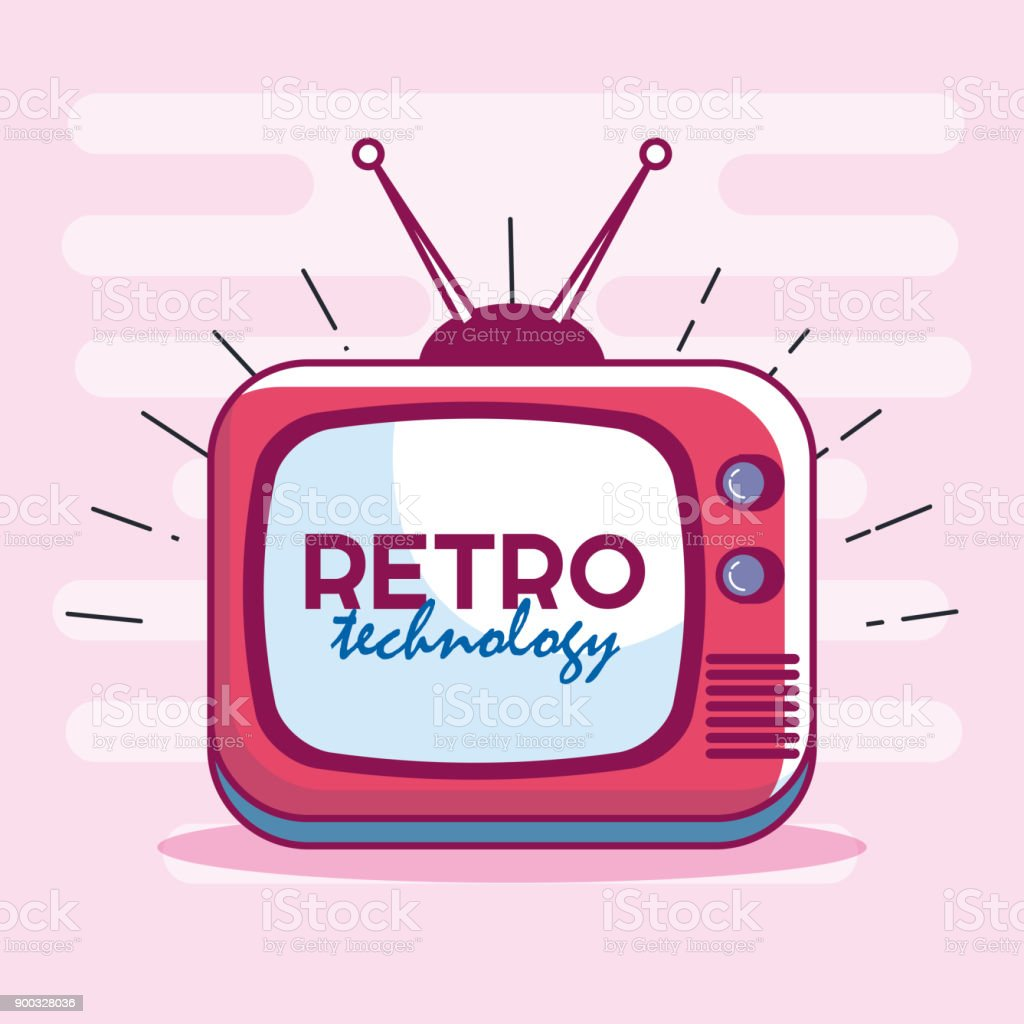 TV-Retro-Technologie-Symbol – Vektorgrafik