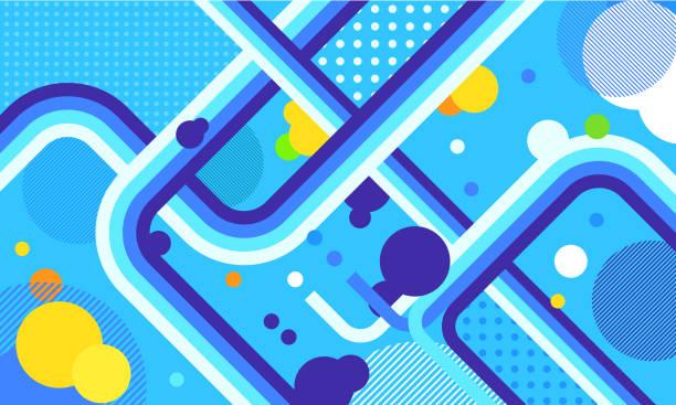 ilustrações de stock, clip art, desenhos animados e ícones de tv show broadcast funky neon vector abstract background. jazz, disco, party, graffiti, break dance festival. print, video - viagens anos 70
