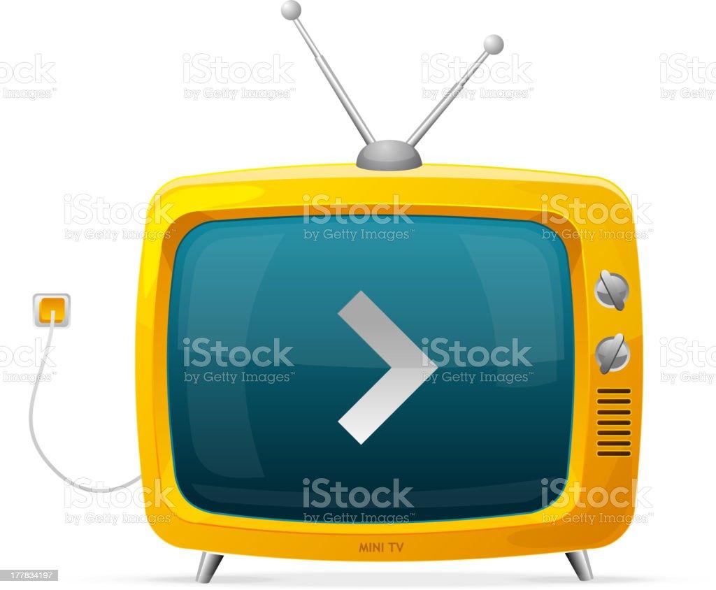 Tv vector yellow royalty-free stock vector art