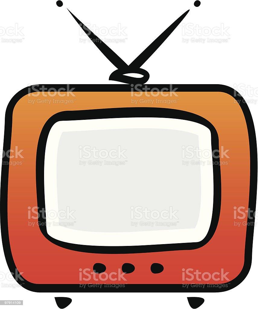 TV-set. Vector illustration royalty-free tvset vector illustration stock vector art & more images of antenna - aerial