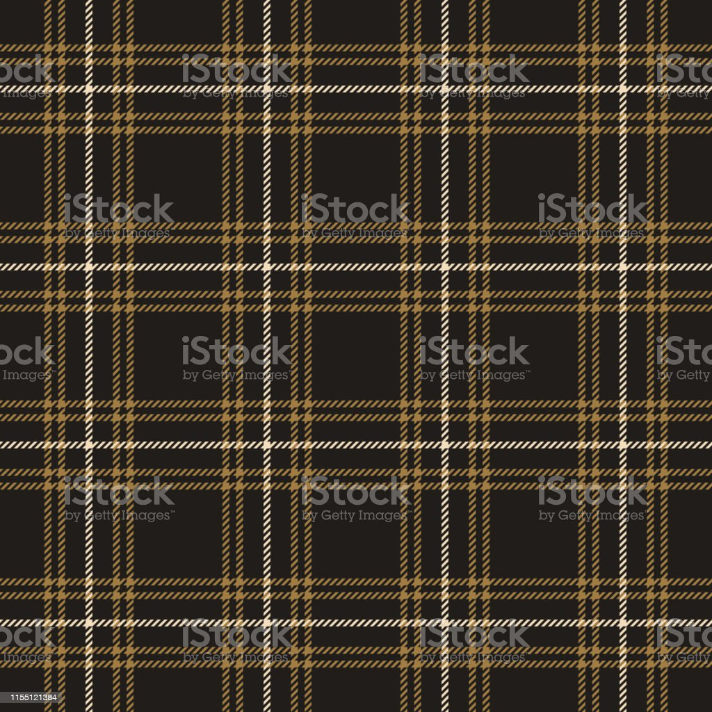 Tweed hounds tooth check plaid pattern seamless vector graphic....