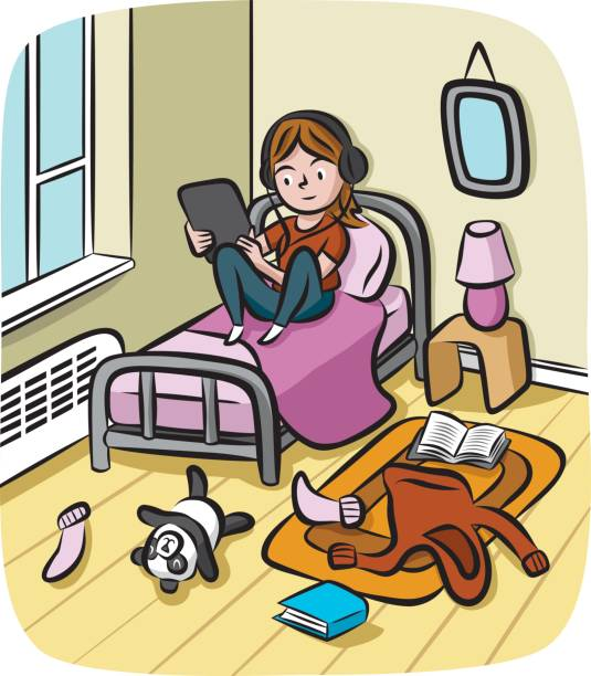 Top 60 Messy Bedroom Clip Art, Vector Graphics And