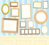 Frames, white canvases and background are on seperate layers so you can easily put your own pictures in the frames.