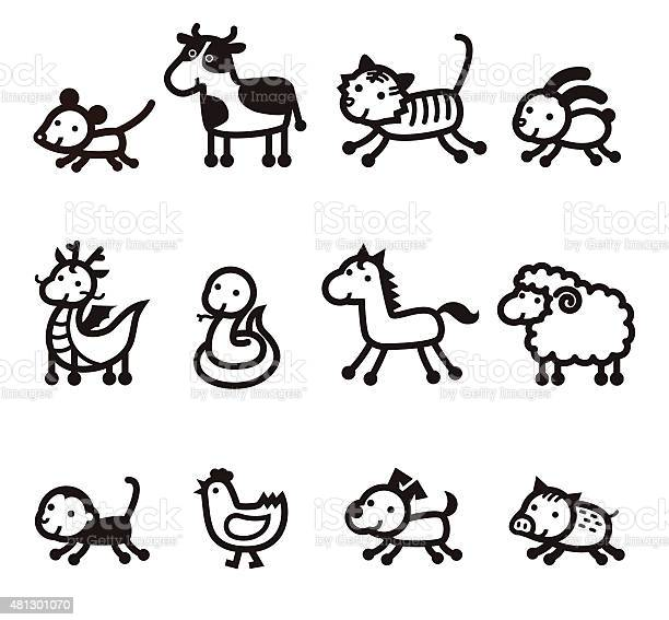 Twelve chinese zodiac animals icon vector id481301070?b=1&k=6&m=481301070&s=612x612&h=b nbg6grrqu1sddkyjvf1ftfkcwxq2bp4nt5ca3q ly=