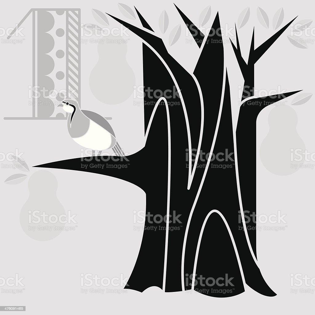 Twelve Days Song1 royalty-free stock vector art