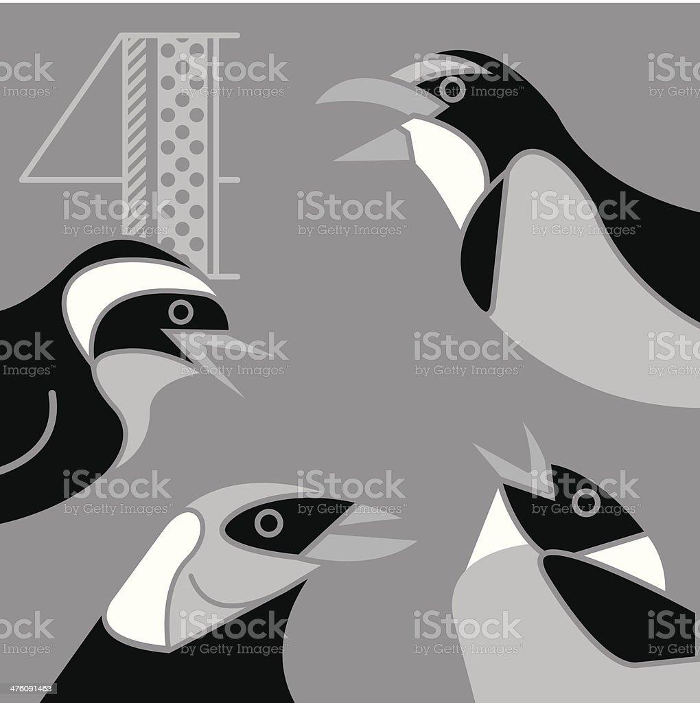 Twelve Days Song4 royalty-free stock vector art
