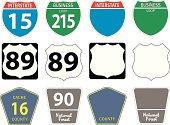 istock Twelve different highway signs 165026101