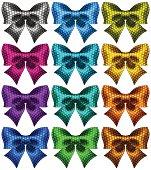 Twelve holiday polka dot bow-knots