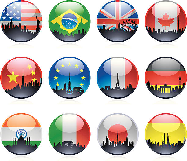 12 大理石の街の旗 - ドイツの国旗点のイラスト素材/クリップアート素材/マンガ素材/アイコン素材