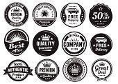 Twelve Scalable Vintage Badges