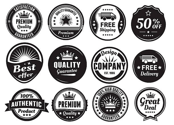 Twelve Scalable Vintage Badges vector art illustration