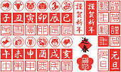 中国の黄道帯の 12 サイン