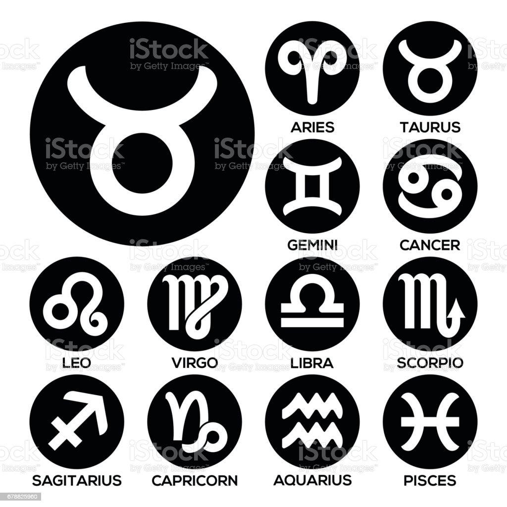 Burç on iki siyah işaretler Icon set royalty-free burç on iki siyah işaretler icon set stok vektör sanatı & abd'nin daha fazla görseli
