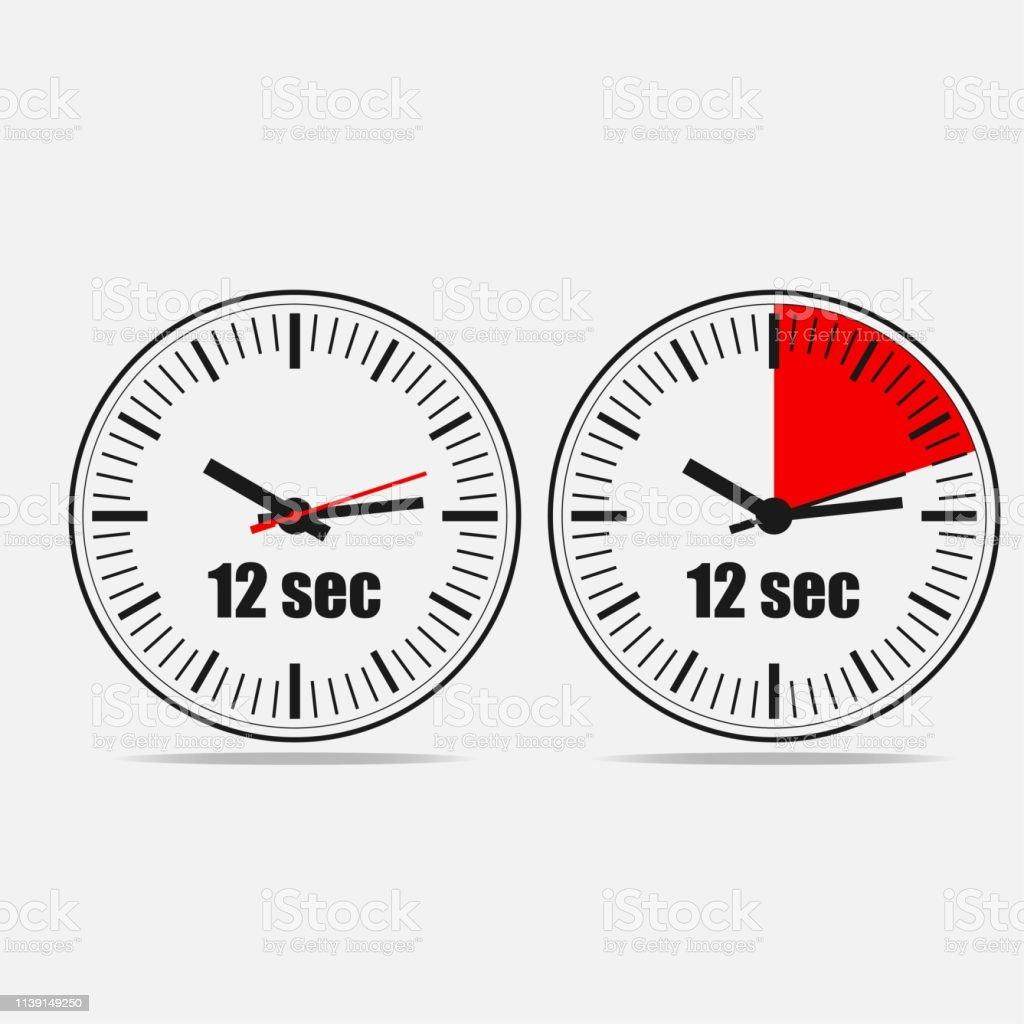 Twenteen Seconds Clock On Gray Background Stock Illustration Download Image Now Istock