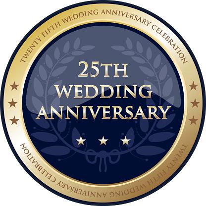 Twenty Fifth Wedding Anniversary Celebration Gold Award