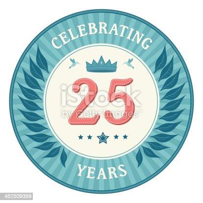 istock Twenty Five Years Anniversary Badge 452509359