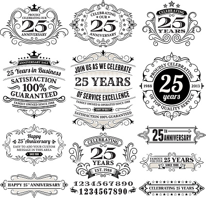 Twenty Five Years Black and White Anniversary Label Collection