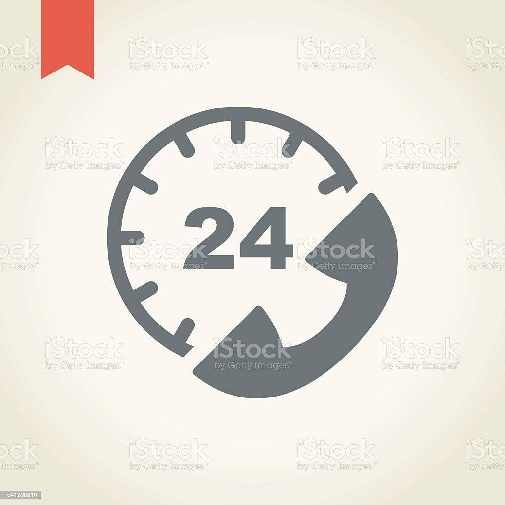 Twenty for hours Customer service icon vector art illustration