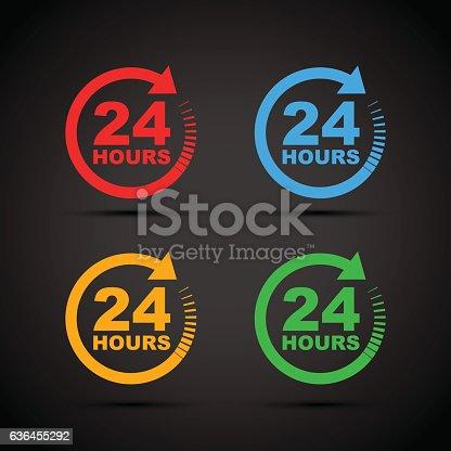 twenty four hour icon set