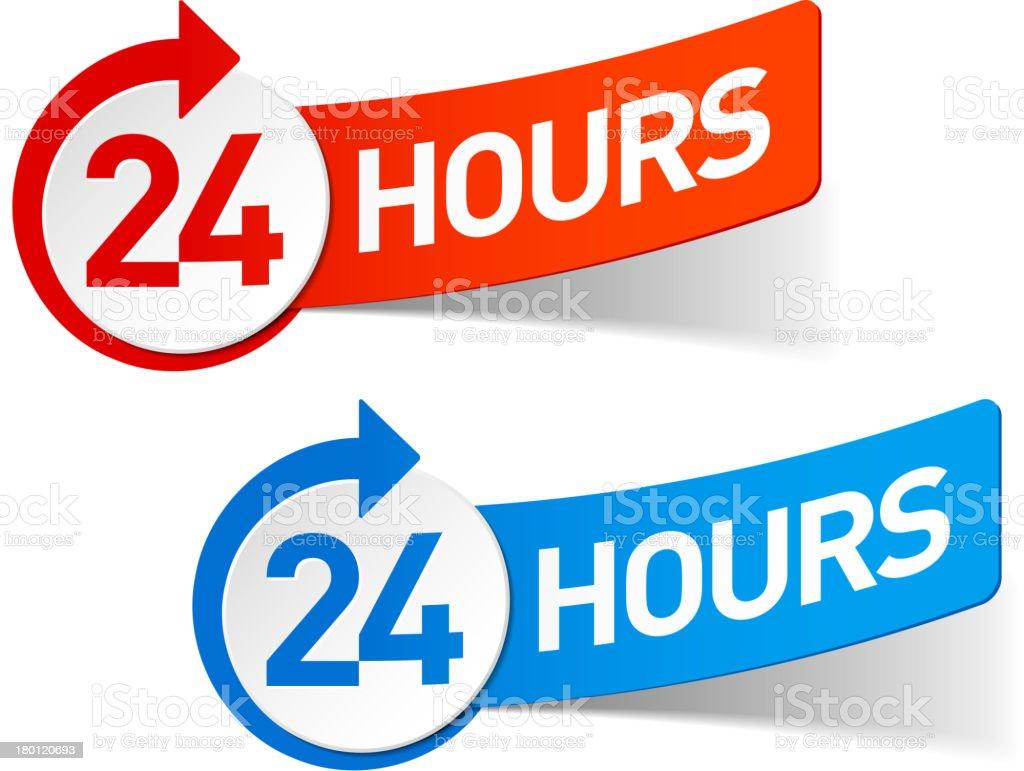 Twenty four hours symbol vector art illustration