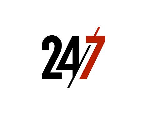 Twenty Four Seven simple text