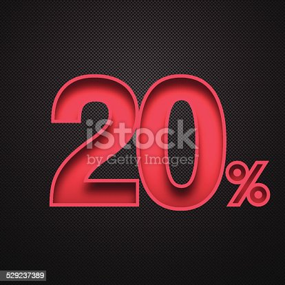 Tewenty percent off. Discount 20%.
