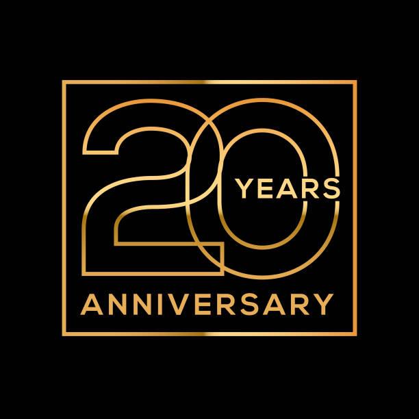 Twenty Year Anniversary vector art illustration