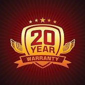 Twenty Year Warranty Emblem