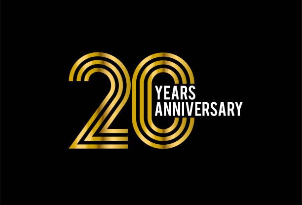 twenty Years Anniversary vector art illustration