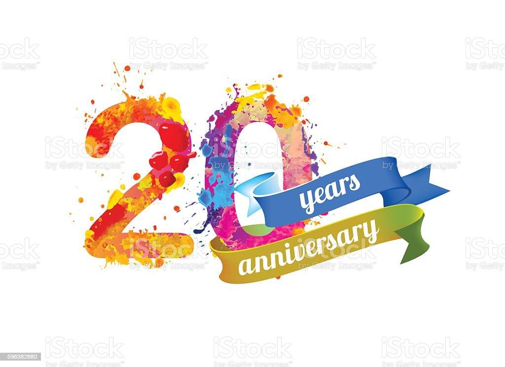 twenty years anniversary – Vektorgrafik