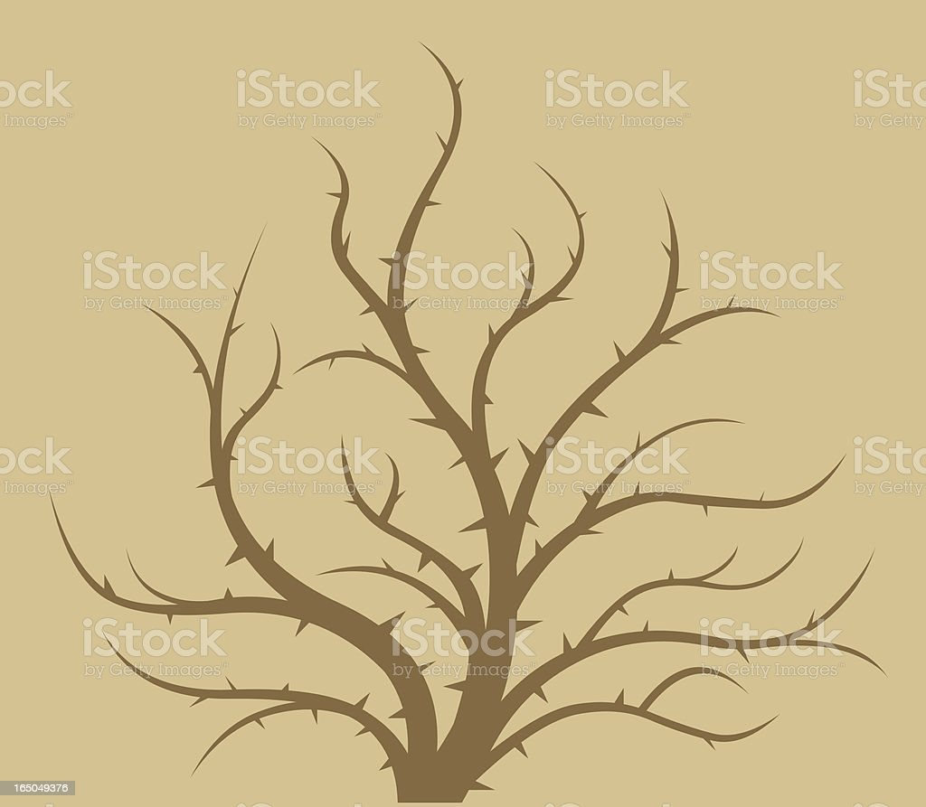Twig thorn vector art illustration