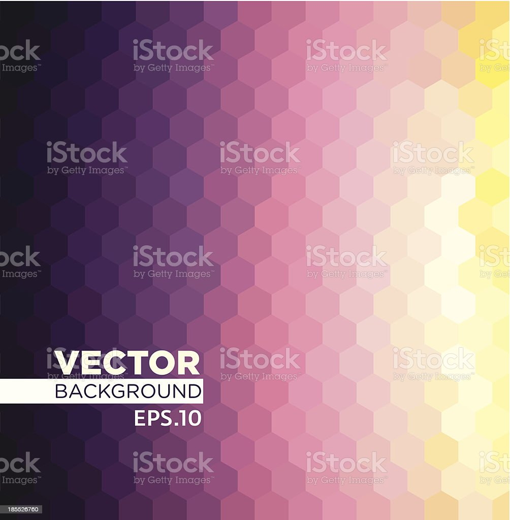 Twilight Grid royalty-free stock vector art